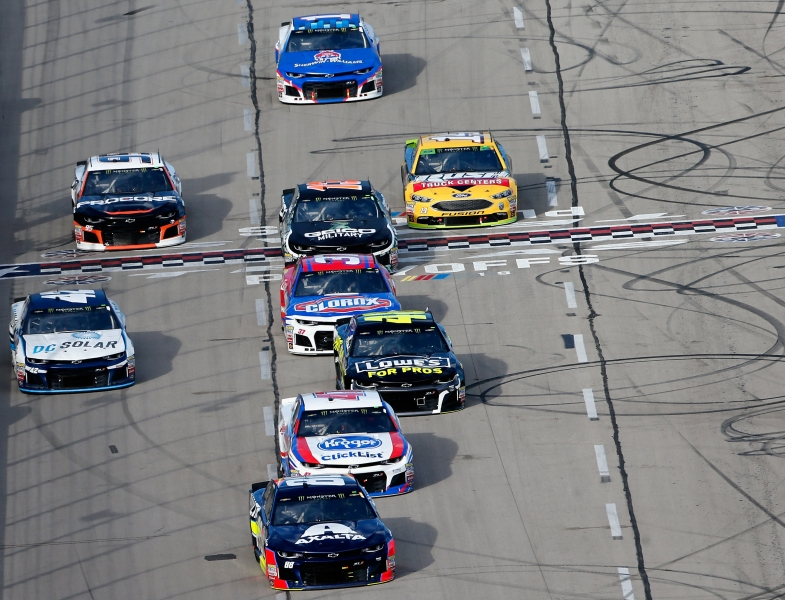 <enter>during the Monster Energy NASCAR Cup Series AAA Texas 500 at Texas Motor Speedway on November 4, 2018 in Fort Worth, Texas.</enter>