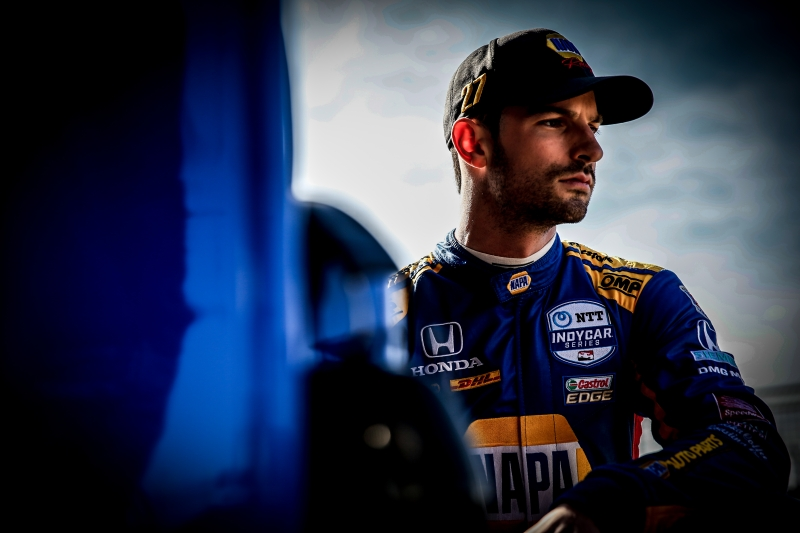 Alexander Rossi looks down pit lane during the Open Test at Circuit of The Americas -- Photo by: Shawn Gritzmacher