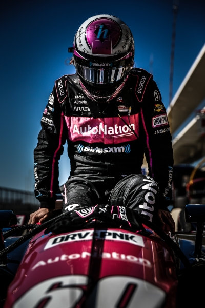 Jack Harvey slides into his No. 60 Autonation Honda on pit lane during the Open Test at Circuit of The Americas -- Photo by: Shawn Gritzmacher