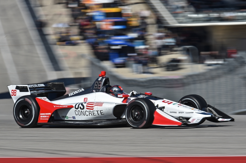 Marco Andretti dives into Turn 1 during the Open Test at Circuit of The Americas -- Photo by: John Cote