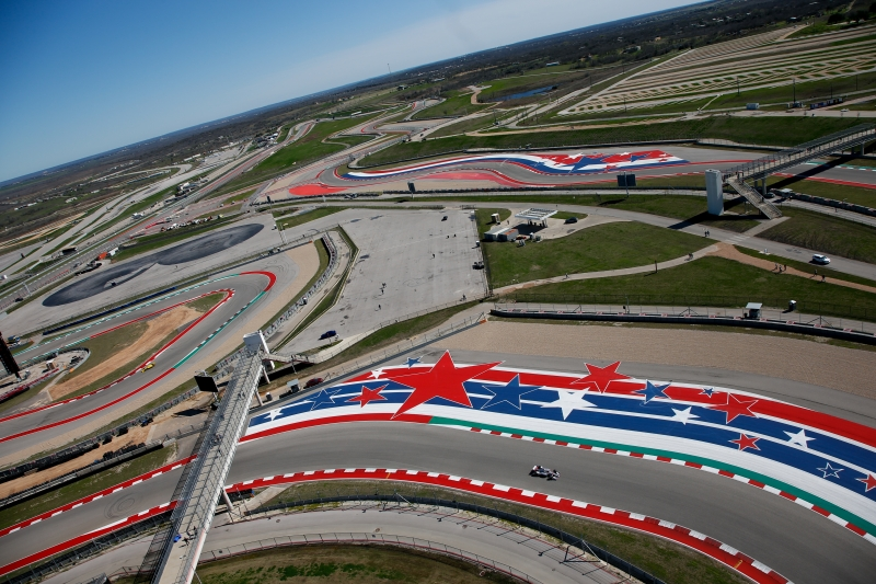 Will Power sails through Turns 16-17 during the Open Test at Circuit of The Americas -- Photo by: Joe Skibinski