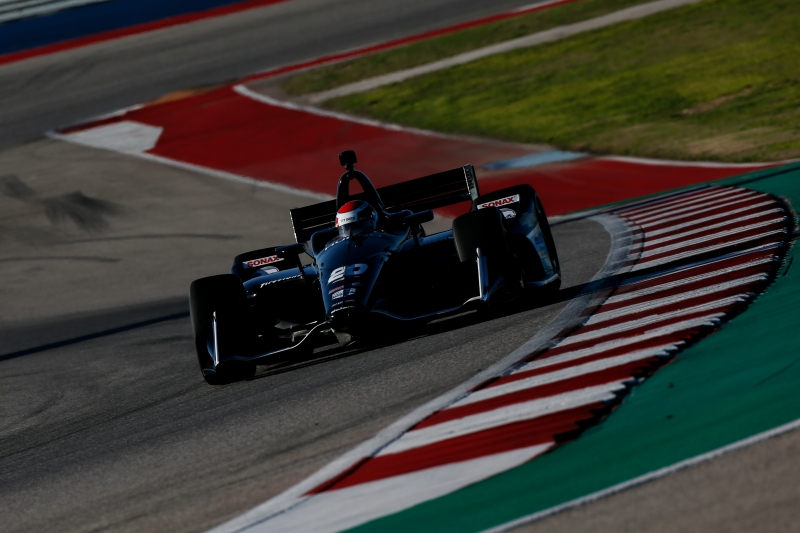 Ed Jones on course during the Open Test at Circuit of The Americas -- Photo by: Joe Skibinski