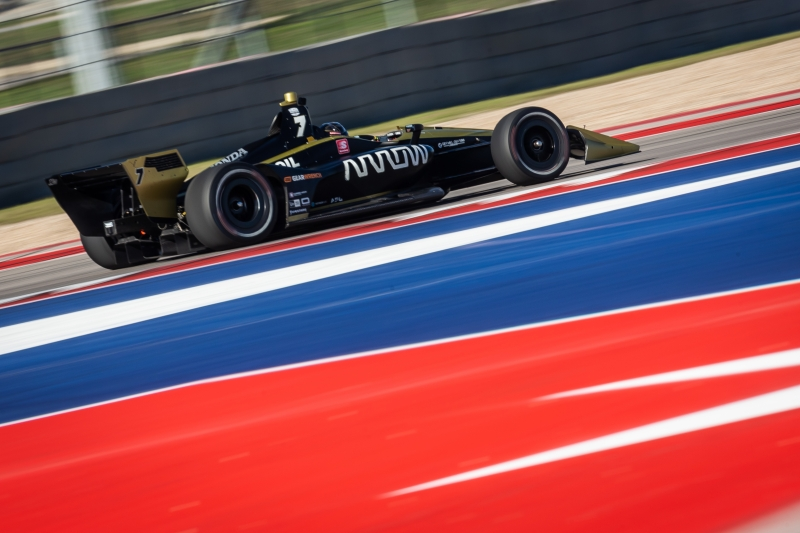 Marcus Ericsson races through the Esses complex during the Open Test at Circuit of The Americas -- Photo by: Stephen King