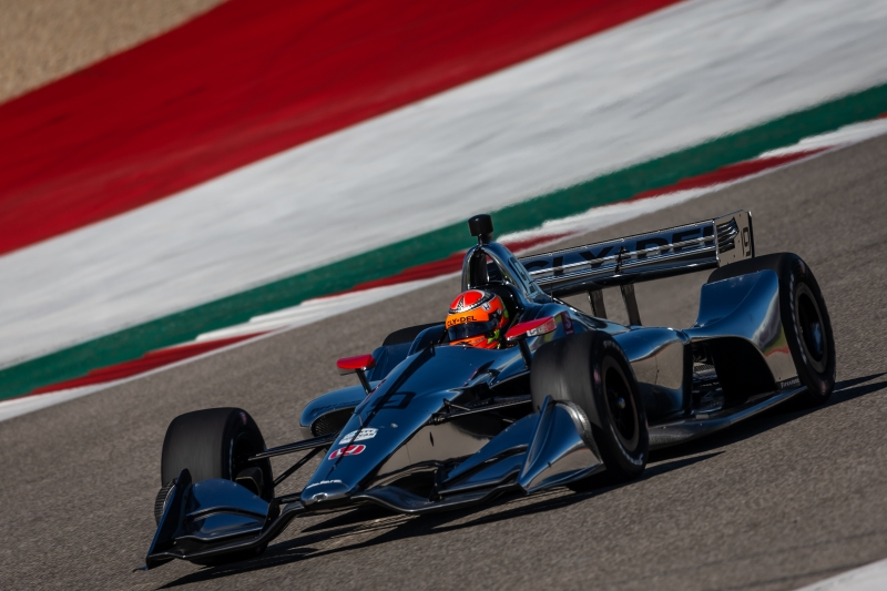 Santino Ferrucci sets sail toward Turn 13 during the Open Test at Circuit of The Americas -- Photo by: Stephen King