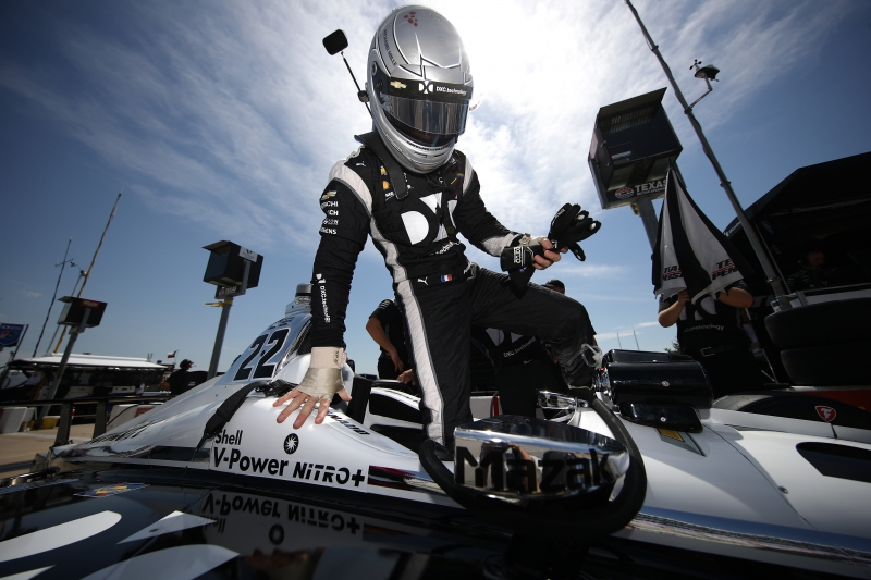 during practice for the Verizon IndyCar Series DXC Technology 600 at Texas Motor Speedway on June 8, 2018 in Fort Worth, Texas.