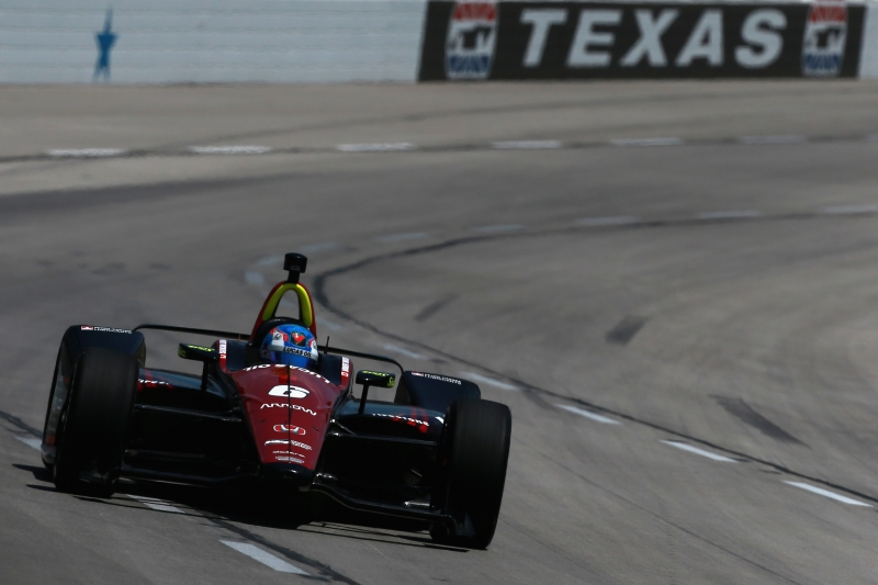 during practie for the Verizon IndyCar Series DXC Technology 600 at Texas Motor Speedway on June 8, 2018 in Fort Worth, Texas.